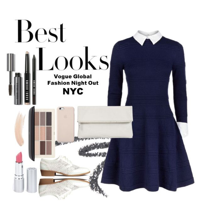 Untitled #17 by lauralionels on Polyvore featuring polyvore fashion style Alice + Olivia H&M Whistles Bobbi Brown Cosmetics HoneyBee Gardens Topshop MML clothing