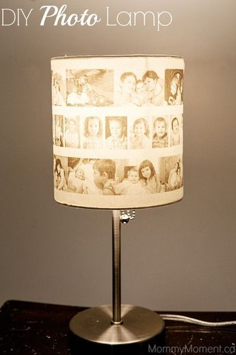 This DIY Photo Lamp is a great gift idea that you can personalize for any individual!