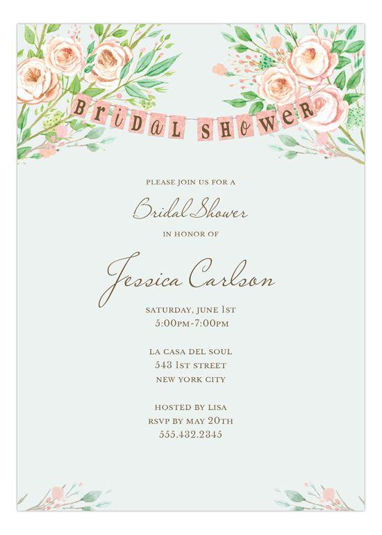 Beautiful Bridal Banner Bridal Invitation | Polka Dot Design