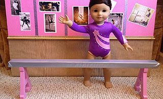 Camis Craft Corner - Dolls | Crafts | Ideas | Projects How to Make an American Girl Gymnastics Balance Beam for $10!!
