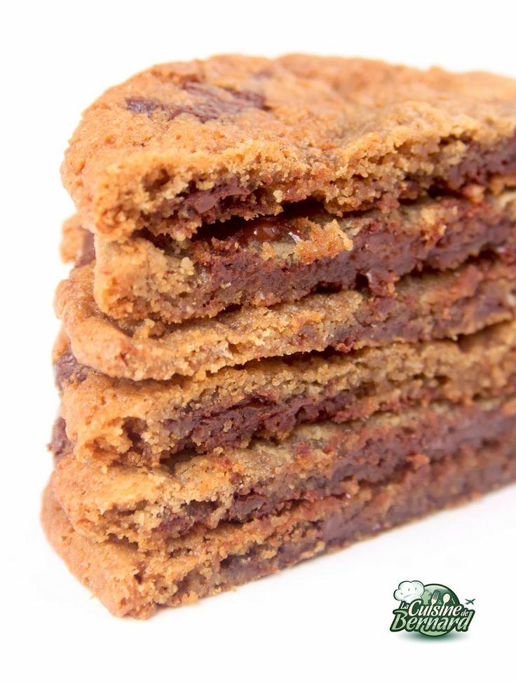 """La Cuisine de Bernard: Les """"CocoChocoLove"""" Cookies : chocolat fondu et noix de coco grillée."""