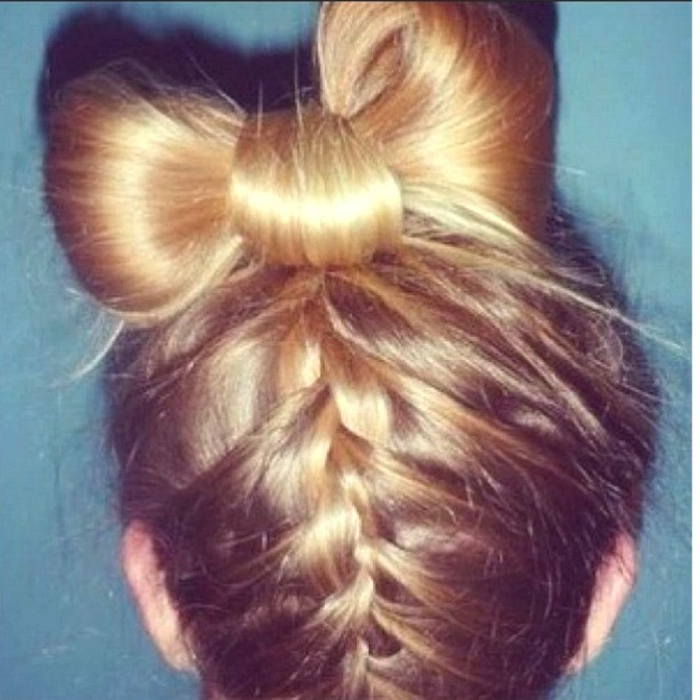 How To Upside Down French Braid Updo With Bow Bun