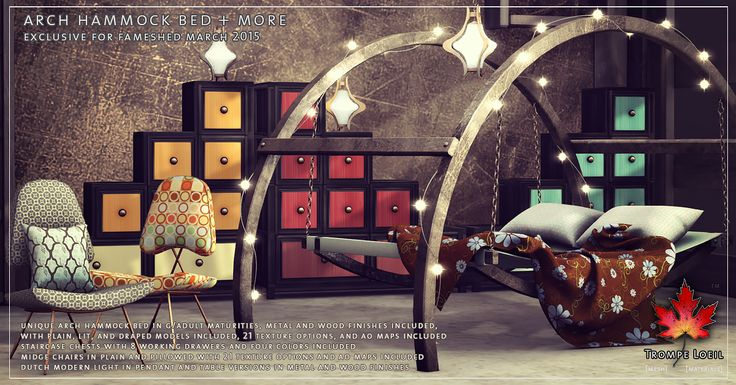 Best 25 hammock bed ideas on pinterest - Trompe loeil hoofd bed ...