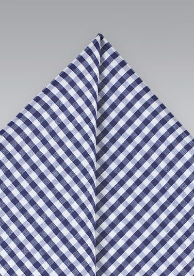 Blue Gingham Check Pocket Square | $7.95 on Cheap-Neckties