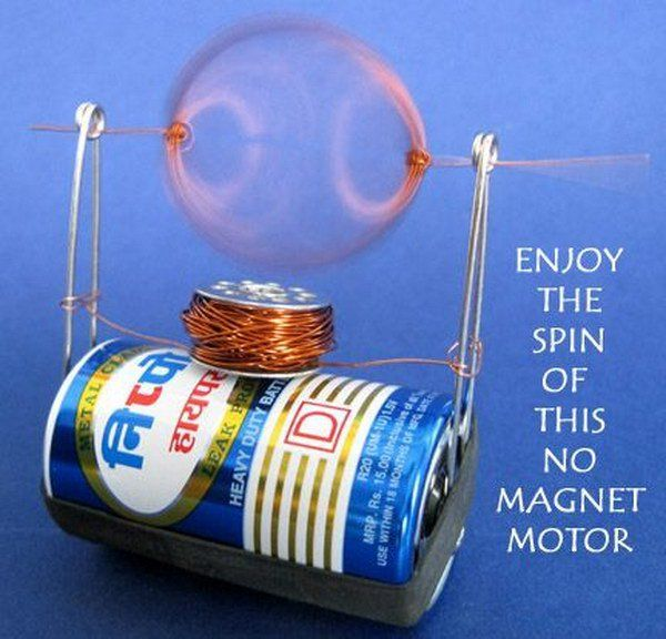 Make a Simple Electric Motor from Trash  Smarts for the kiddos  Cool science experiments