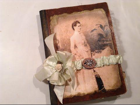 Vintage Wedding Journal - Altered Composition Book - Vintage Wedding Guest Book - YouTube