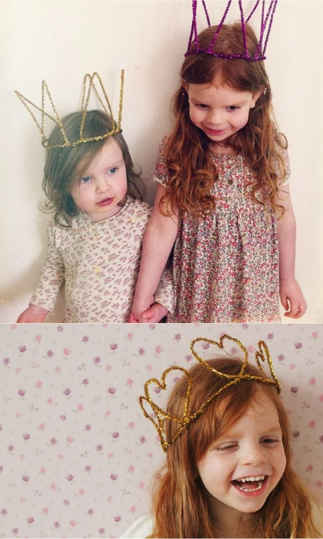 {Pipe Cleaner Crowns} Such a simple concept. Would be great to make for a New Years party!