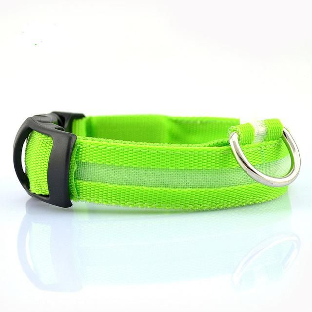 LED Night Flashing Glowing Pet dog Collar, Pet Collar Luminous for Dogs Cats Dog Accessories Dog Supplies