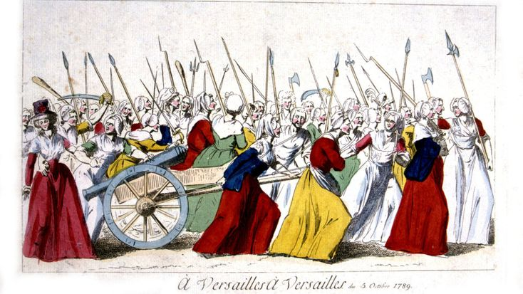 The Women's march on Versailles: March of insurgent women in Versailles, October 5, 1789. Photo 12 / UIG via Getty Images