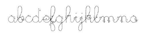 différents modèles d'écriture téléchargeable sous word (cursive, cursive pointillée ...)
