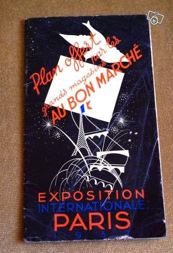 Plan de l'Exposition Internationale de Paris 1937 #chrisdeparis 7€