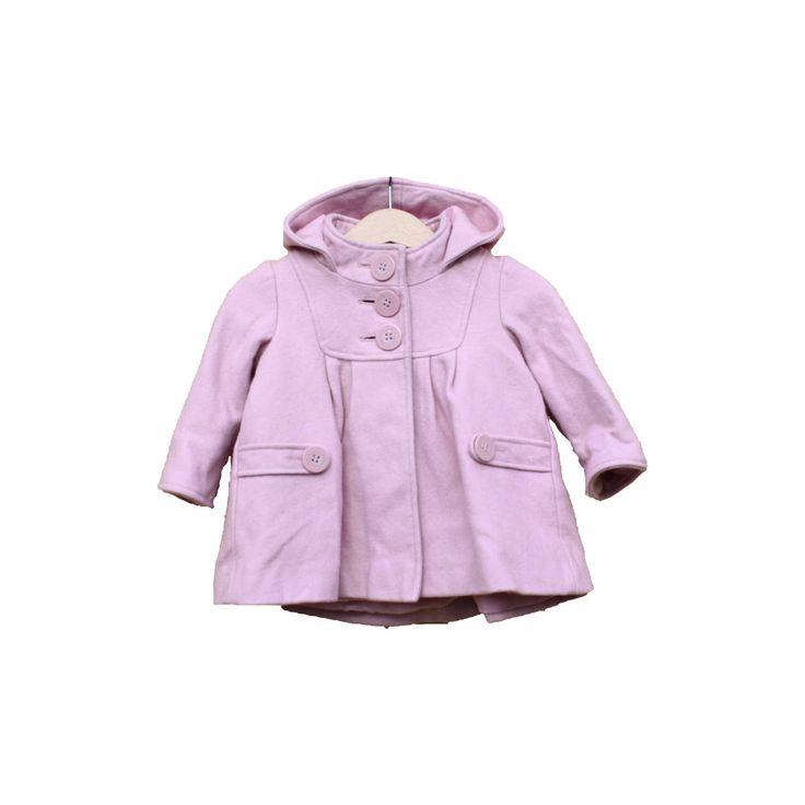 Next, kabát, rózsaszín, kapucnis