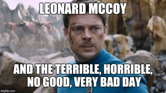 All the days of his life aboard the Enterprise HAHAHA