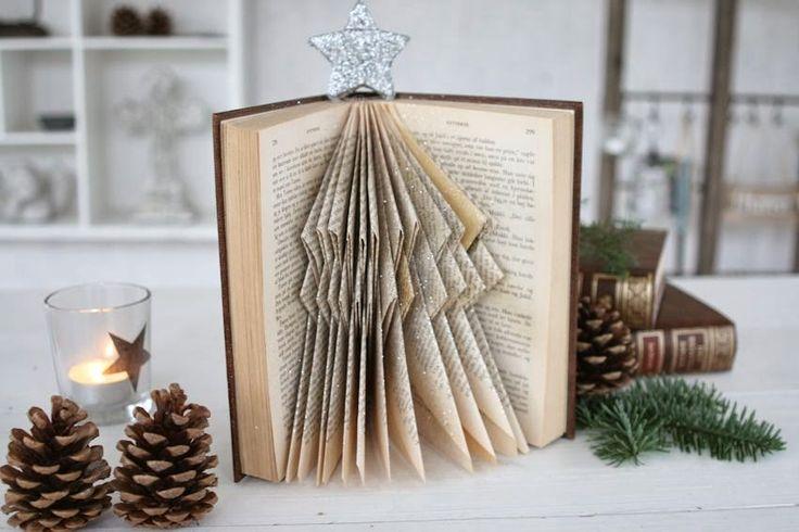 Rosen-lund´s blog: Julekalender d. 4 december Lav et bogjuletræ