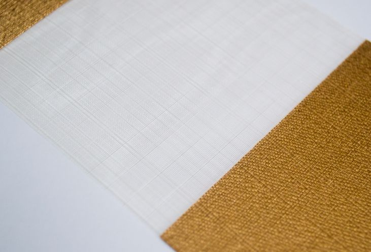 'Copper' - another delicate fabric from our silky Verona range of Vision roller blinds.