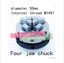50mm vierklauwplaat Handleiding chuck houtbewerking draaibank tool Interne draad M14X1 gratis verzending(China (Mainland))
