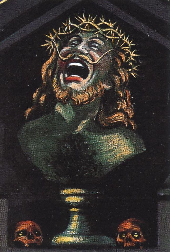 Mon tombeau, 1947-62, huile sur toile, 100 x 81 cm, detail 3