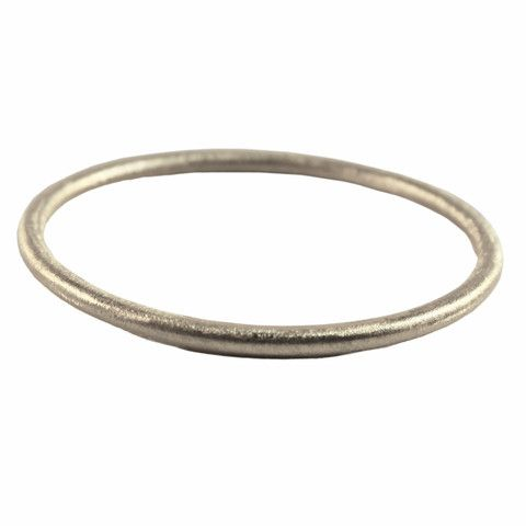 SILVER BRUSHED BANGLE | Buy So Pretty Jewelry online