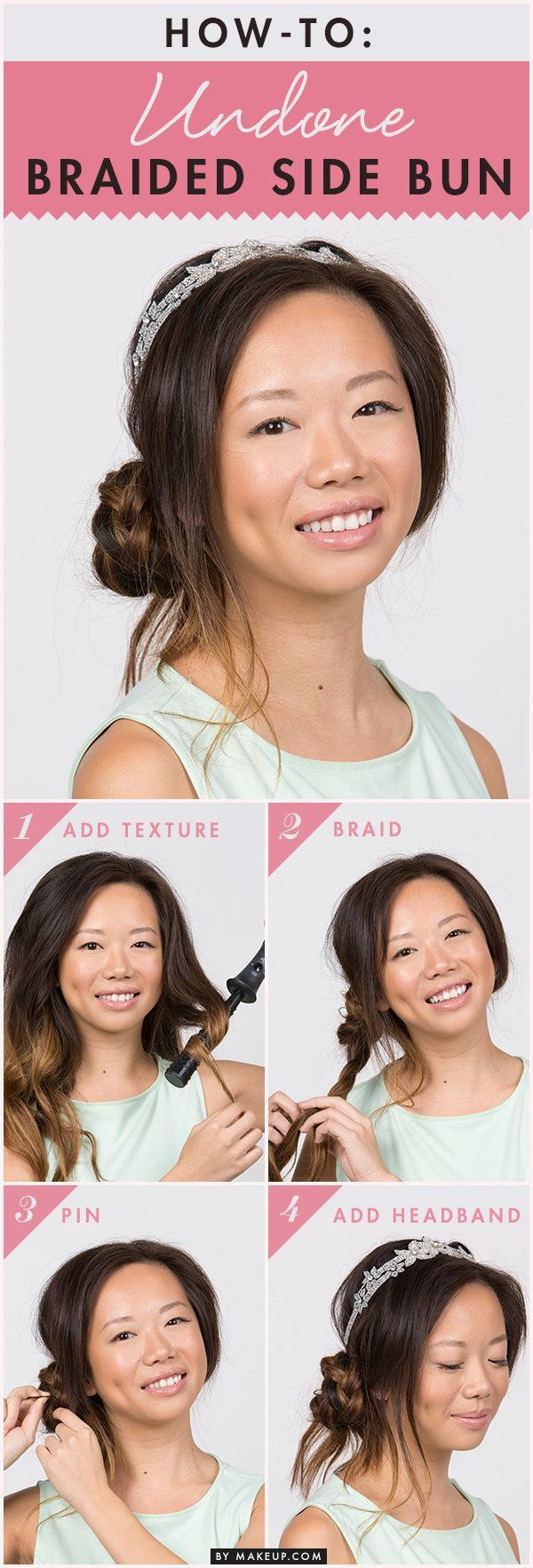 A braided side bun is the perfect look for girls that want to look effortless yet polished. In just six steps, our hair tutorial will help anyone master this simple, cool hairstyle.