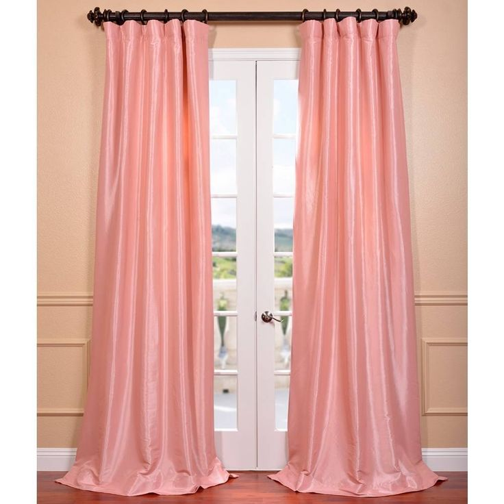 Light Pink Curtains Target: 1000+ Ideas About Faux Silk Curtains On Pinterest