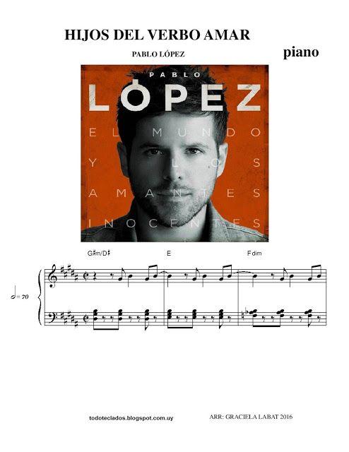 """TODO TECLADOS: """"HIJOS DEL VERBO AMAR"""" PABLO LOPEZ piano"""