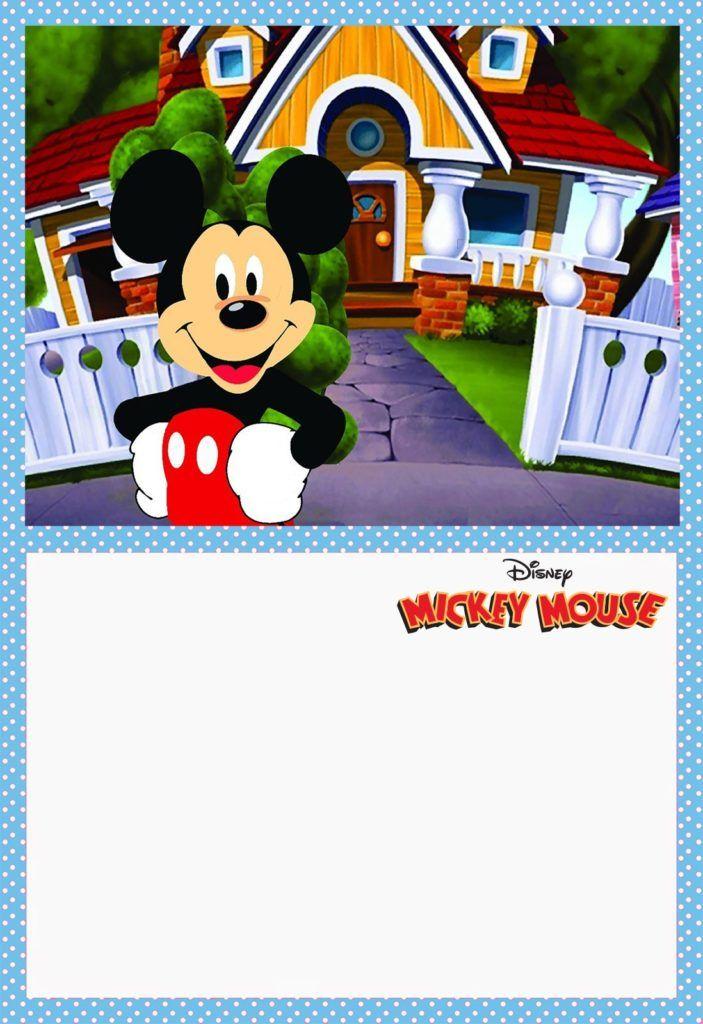 Printable Mickey Mouse Invitation Card Mickey Mouse Invitation Mickey Mouse Birthday Invitations Mickey Mouse Clubhouse Invitations