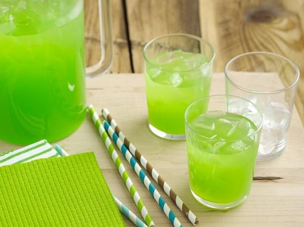 Pineapple Lime Punch - I grew up having this delicious punch (without the gummy worms lol) and I have always called it Ernie's Punch because my uncle usually brought it to family reunions and other special things. It's delicious and refreshing!