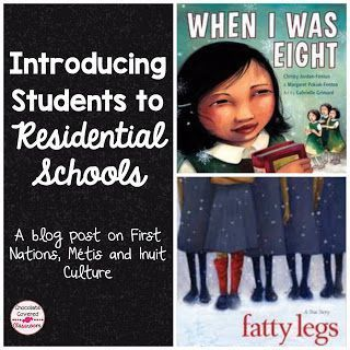 Teaching Upper Elementary (grades 4, 5, 6) about First Nations, Metis and Inuit Culture, Alberta, Canada Read alouds about Residential Schools