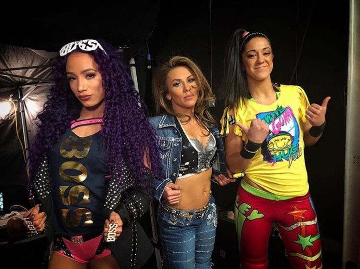 Sasha Banks, Mickie James, and Bayley