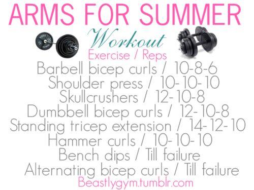 Arm workout | via Tumblr