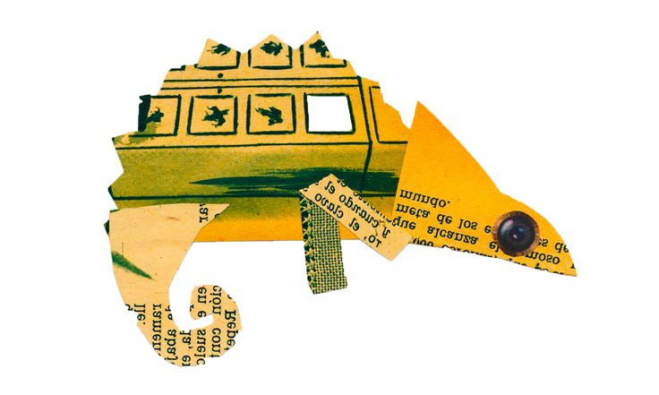 Camaleón (collage)