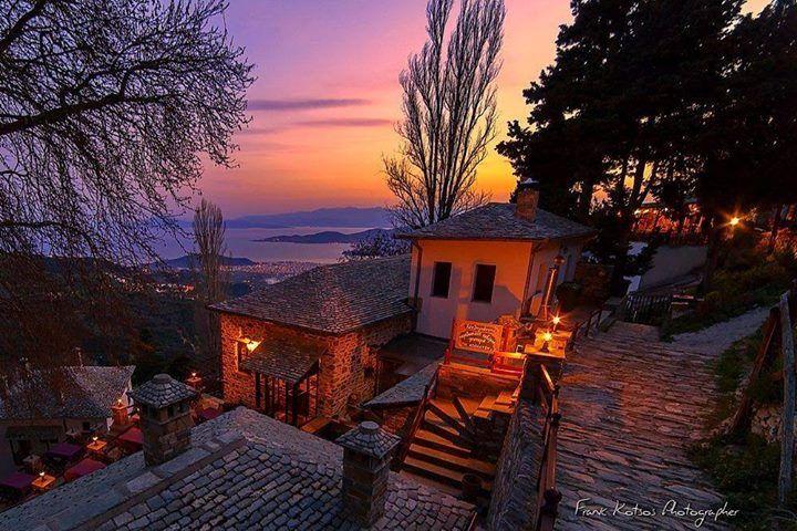 Makrynitsa village in the dusk ~ Pelion mountain