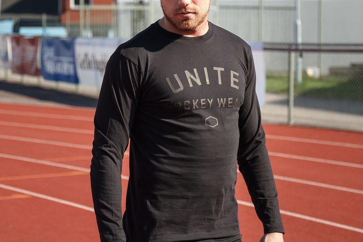 Unite Hockey Wear långärmad t-shirt | Finns i svart och grå |  | #UniteHockey #WeAreUnite #Hockey #Ishockey