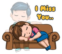 Distance should never matter if two people love each other.This is story about a long distance relationship couple, hope you like this sticker set.