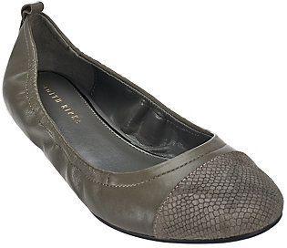 Judith Ripka As Is Leather Slip-on Flats - Alberta