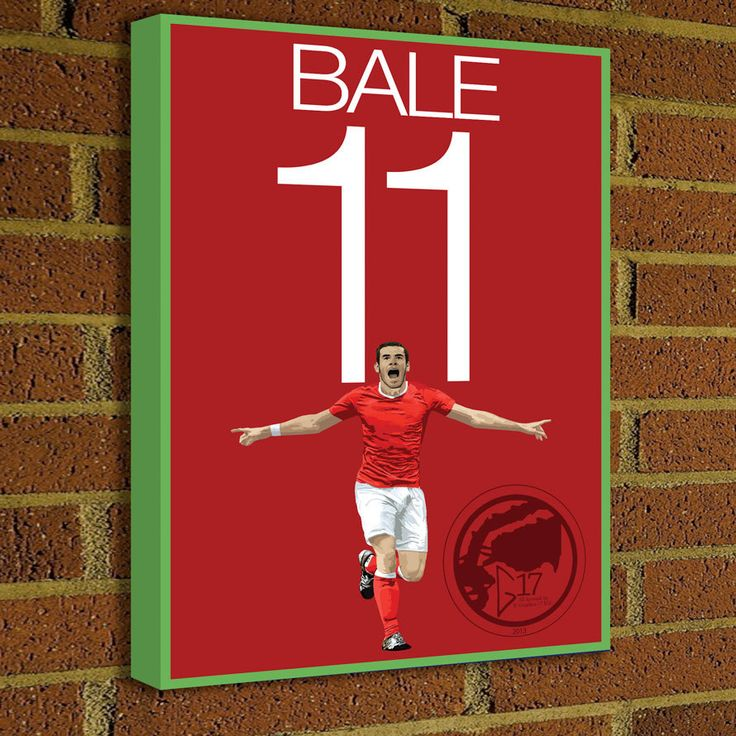 Gareth Bale 11 Canvas Print - Welsh Soccer Poster - FIFA art, wall decor, home decor, Bale Canvas Wrap Art work, Welsh National Team poster by Graphics17 on Etsy