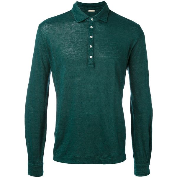 Massimo Alba polo shirt (620 BRL) ❤ liked on Polyvore featuring men's fashion, men's clothing, men's shirts, men's polos, green, mens green shirt, mens green polo shirt, mens long sleeve shirts, mens longsleeve shirts and mens long sleeve polo shirts