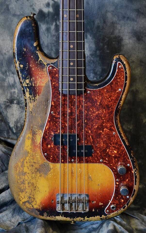 A VERY well-worn Precision bass...I'm shooting for '63....K