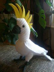 gehäkelter Gelbhaubenkakadu/Papagei