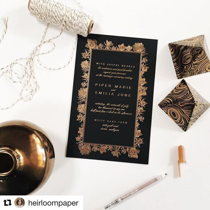 happily ever after wedding invitations%0A Soft Penny Foil   Black Stock Journey Collection by Designers u     Fine Press   Customize yours    Invitation SuiteWinter WeddingsFloral