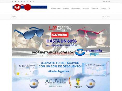 Tienda online de la cadena LOF donde vas a encontrar anteojos de sol, receta, lentes de contacto y muchos productos de óptica más de las mejores marcas http://www.guiapurpura.com.ar/optica-lof