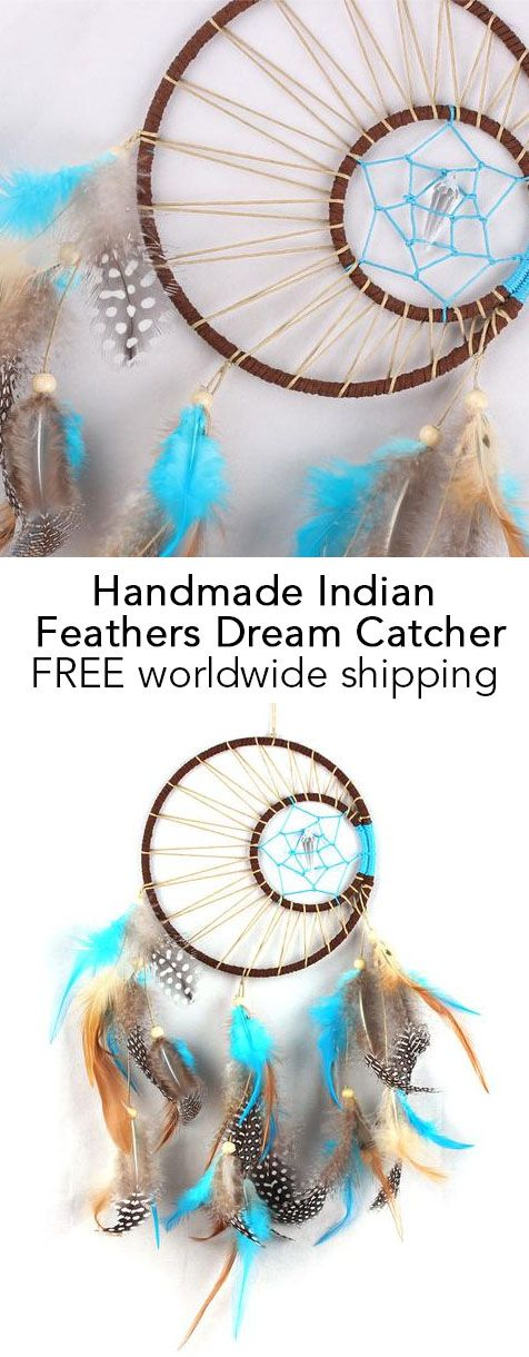 Handmade Indian Feathers Dream Catcher