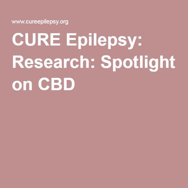 CURE Epilepsy: Research: Spotlight on CBD
