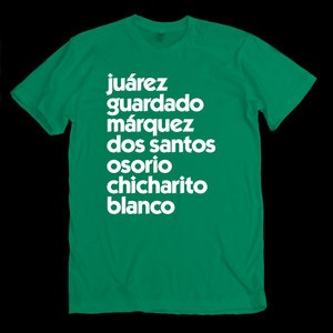 Mexico World Cup T-shirt: other countries available