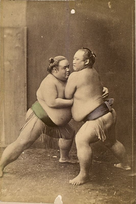 Two Sumo wrestlerspage #1