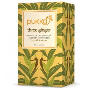 Pukka Tea Three Ginger Organic 20 Bags - very strong..reuse the bag for a second cup :)
