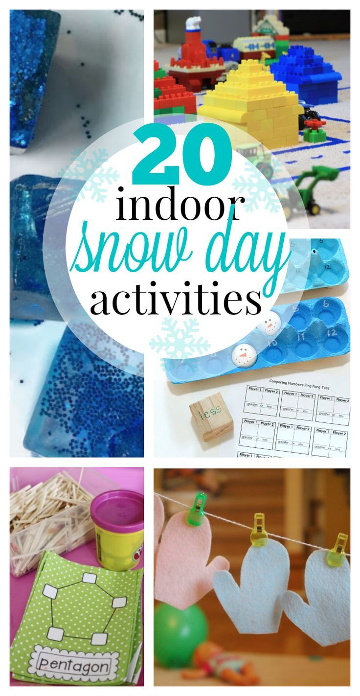 20+ Indoor Snow Day Activities: Go outside and play in the snow...then warm up inside with these fun indoor snow day activities!