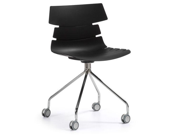chaise de bureau delf noire