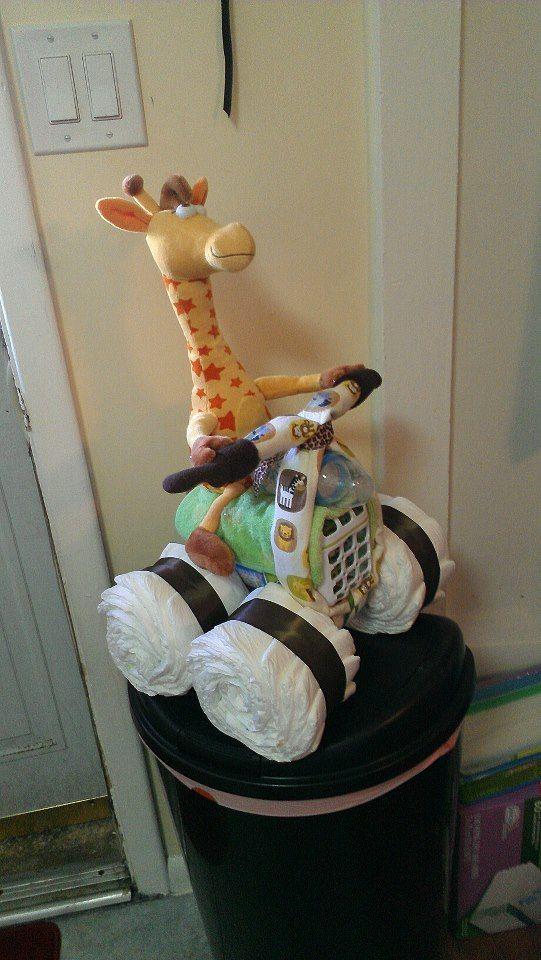 jeep diaper cake giraffe