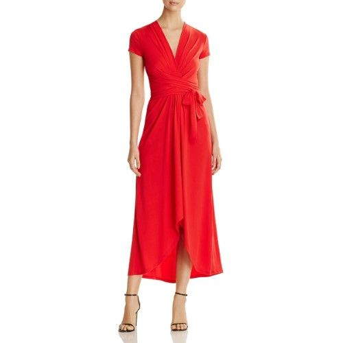 Michael Michael Kors Womens Cap Sleeves Mid Calf Maxi Dress